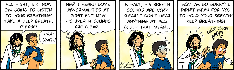 Callous Medical Comic Strip On Doctors By A Physician